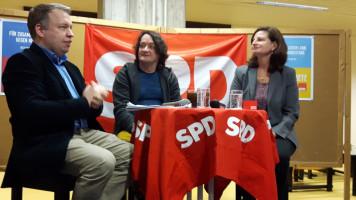 SPD-Neujahrsempfang 2017 mit Uwe Hinsche (Mitte) von BISS e.V.