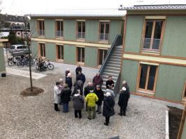 Baustellenbesichtigung Modulhäuser Puchheim-Ort