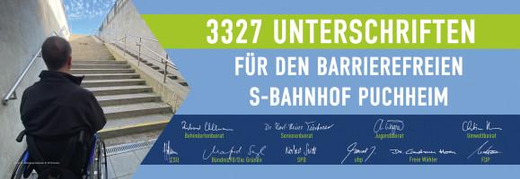 Banner Unterschriften Online-Petition Barrierefreier Bahnhof Puchheim