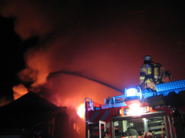 Brandseinsatz im alten Industriegebiet an der Josefstraße