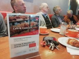Café und Croissant am 16.11.2019 mit Reimund Acker und Norbert Seidl