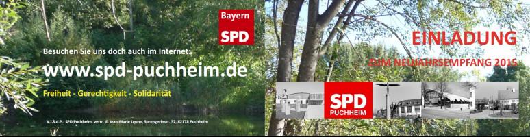 Einladung zum SPD-Neujahrsempfang 2015 Außenseite