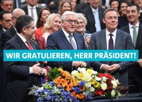 Gratulation an Frank-Walter Steinmeier