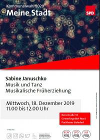 Plakat Meine Stadt Besuch Sabine Januschko 18.12.2019