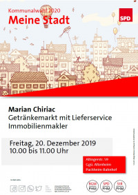 Plakat Besuch Marian Chiriac 20.12.2019