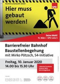 Plakat Begehung S-Bahnhof 10.1.2020