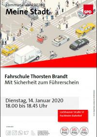Plakat Besuch Fahrschule Brandt 14.1.2020