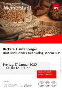 Plakat Besuch Bio-Konditorei Hauzenberger 17.1.2020