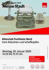 Plakat Besuch Altenclub Puchheim-Nord 20.1.2020