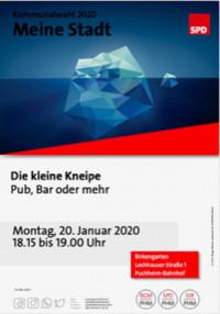 Plakat Besuch Kleine Kneipe 20.1.2020