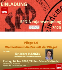 Einladung SPD-Neujahrsempfang 2020 Dr. Nora Hangel