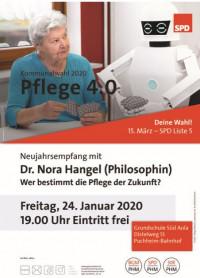 Plakat SPD-Neujahrsempfang 2020 Dr. Nora Hangel