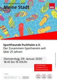 Plakat Besuch Sportfreunde Puchheim 9.1.2020