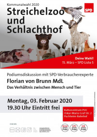 Plakat Schlachthof und Streichelzoo 3.2.2020