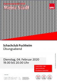 Plakat Besuch Schachclub Puchheim 4.2.2020