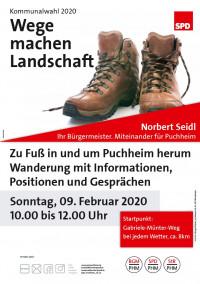 Plakat Wege machen Landschaft 9.2.2020