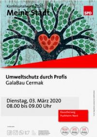 Aktion Meine Stadt - Plakat Besuch bei GaLa-Bau Cermak