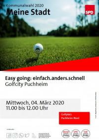 Plakat Aktion Meine Stadt - Besuch bei GolfCity Puchheim