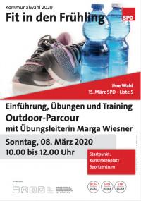 Plakat SPD Aktiv - Fit in den Frühling