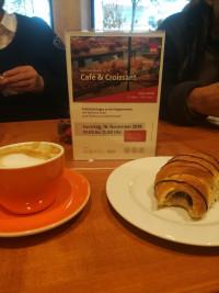 Café und Croissant am 16.11.2019