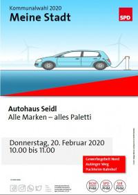 Plakat Besuch Autohaus Seidl 23.2.2020