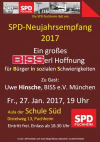 SPD-Neujahrsempfang 2017 - Das Plakat zur Veranstaltung