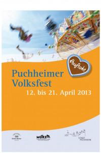 """Das Logo des Puchheimer Volksfests 2013 """"Auftakt"""""""