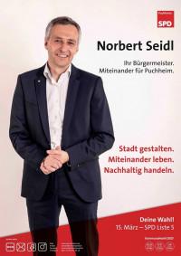 Plakat Norbert Seidl - Unser Bürgermeister