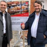 Café und Croissant bei Grüners mit Norbert Seidl und Dr. Christoph Maier