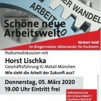 Plakat Schöne neue Arbeitswelt mit Horst Lischka