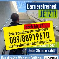 Plakat Barrierefreier S-Bahnhof Puchheim JETZT! Endspurt