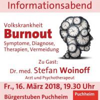 Plakat Informationsabend Burnout am 16.3.2018