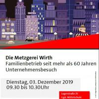 Plakat Meine Stadt Metzgerei Wirth 3.12.2019
