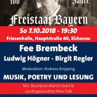 Plakat 100 Jahre Freistaat Bayern SPD Eichenau und SPD Puchheim