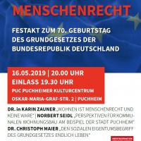 Veranstaltung Wohnen ist Menschenrecht am 16.05.2019