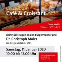 Café und Croissant am 11.01.2020 Grüners