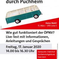 Plakat Mit dem Bus durch Puchheim 17.01.2020