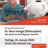 Plakat SPD-Neujahrsempfang 2020 - Dr. Nora Hangel