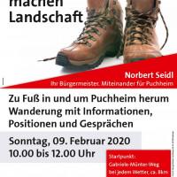 Plakat Wege machen Landschaft Wanderung 9.2.2020