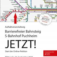 Plakat Barrierefreier S-Bahnhof Puchheim jetzt Auftakt 16.9.2020