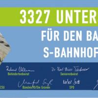 Banner 3.327 Unterschriften Online-Petition Barrierefreier Bahnhof Puchheim