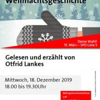 Plakat Lesung Weihnachtsgeschichte Otfrid Lankes 18.12.2019 ZaP